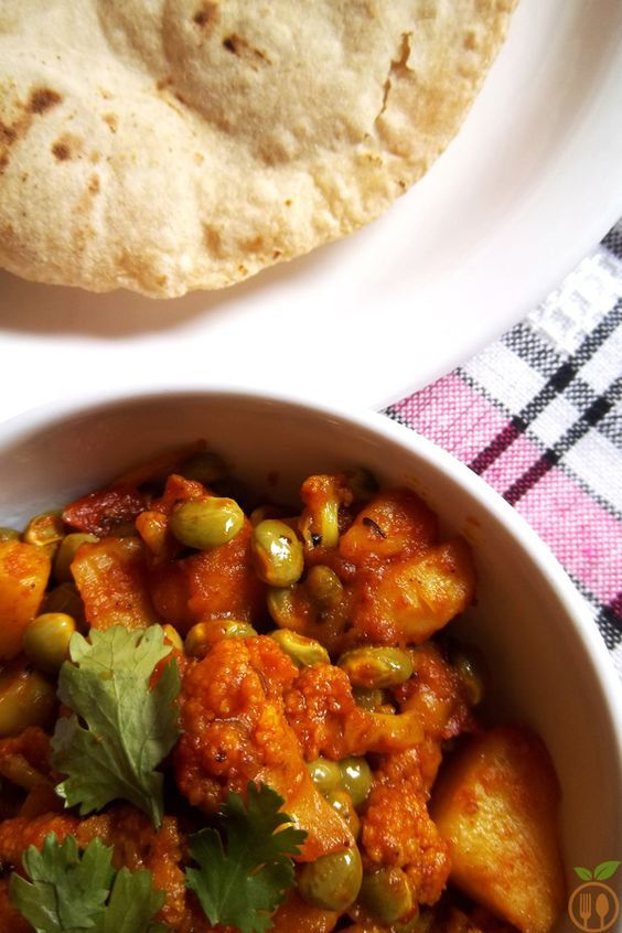 Authentic Aloo Gobi Curry   Cauliflower Potato Curry - Indian Recipe... Authentic Aloo Gobi Curry or subji (also referred as Cauliflower Potato Curry) is best ever recipe from main course served with rice or roti. It is delicious dry vegetable curry sautéed with typical Indian spices and different combination of vegetables and also spruced up with common ingredients like ginger, green chilies and garlic.