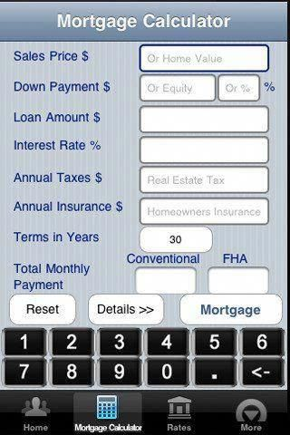 Use my free mobile mortgage calculator app Accurately calculates