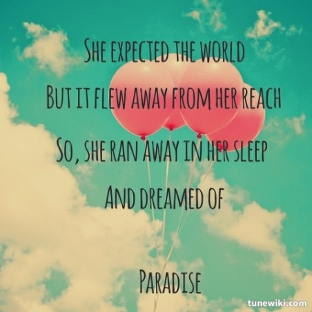 lauraliz1215 shared Paradise by Coldplay | TuneWiki.com