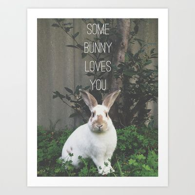 Some+Bunny+Loves+You+Art+Print+by+lapinlune+-+$14.48