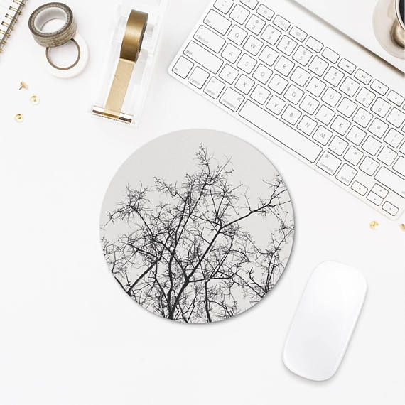 Tree Branch Mousepad Round Mousepad Nature Office Decor