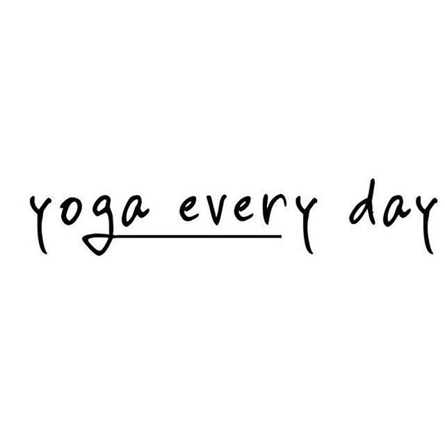 Yoga every day ✨