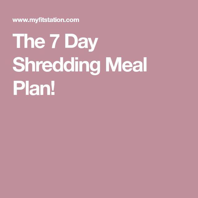 shred diet meal plan pdf