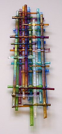 Cindy Brandt, glass weave wall piece