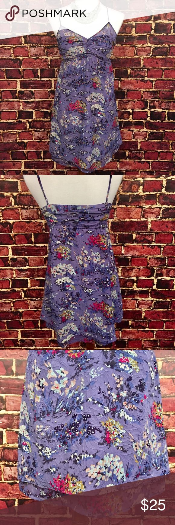 American Eagle Floral Sundress Beautiful American Eagle Outfitters spring floral sundress! Fit and flare style with an empire waist. Adjustable straps. Multi layered hem. In perfect preowned condition. Smoke and pet free home. American Eagle Outfitters Dresses Mini