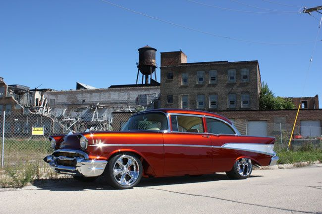 Ray Hott has put together a wicked cool 1957 Chevrolet custom that would be a standout in almost any collection.