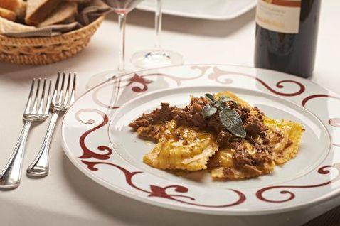 Ravioli alla salsa ubriaca di Chianti