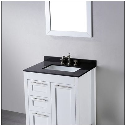 30 inch white bathroom vanity with carrera marble top Bathroom