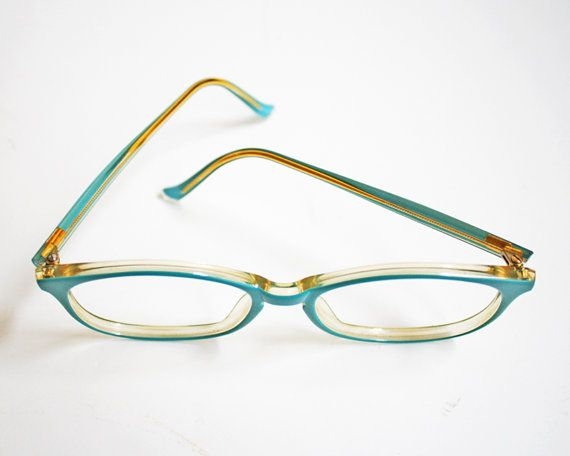 Vintage Hipster Oversized Blue Glasses Frames by by shopferdinand