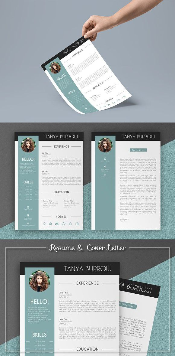 Teal Resume and Cover Letter