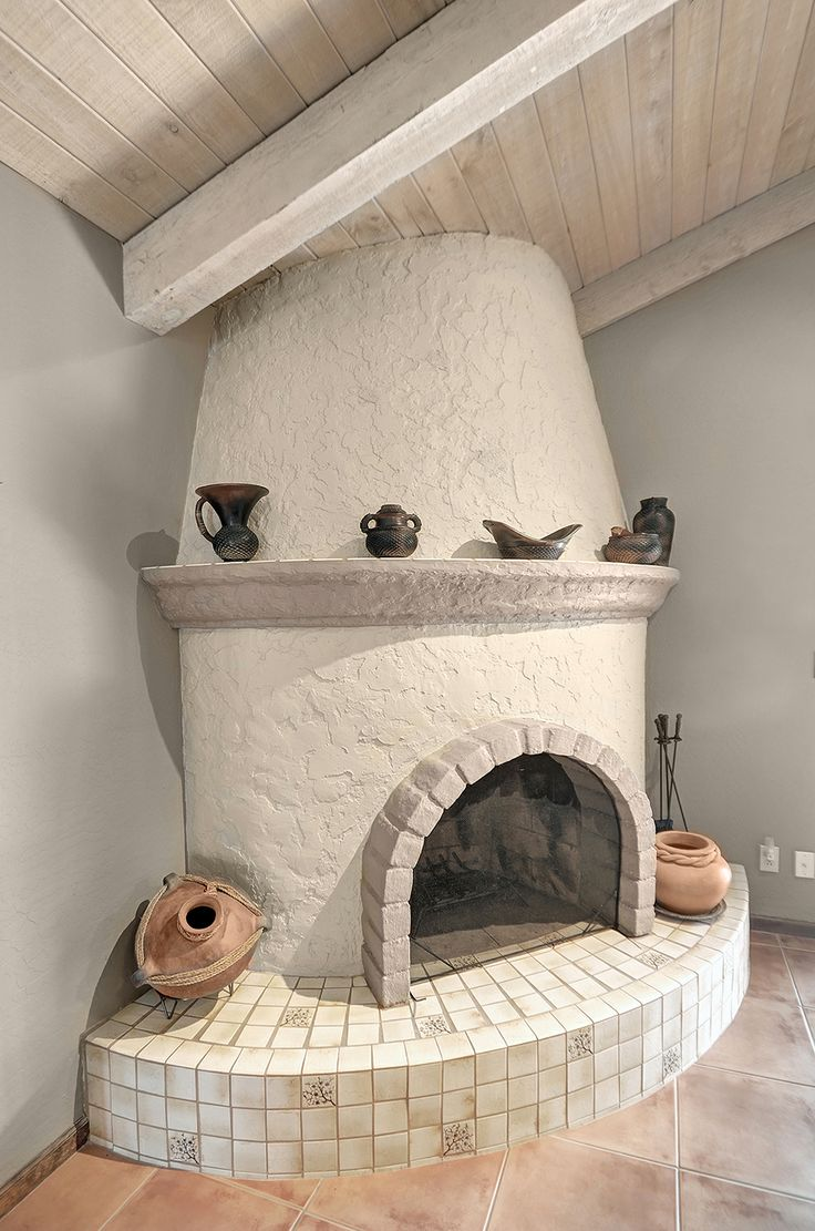 beautiful kiva fireplace