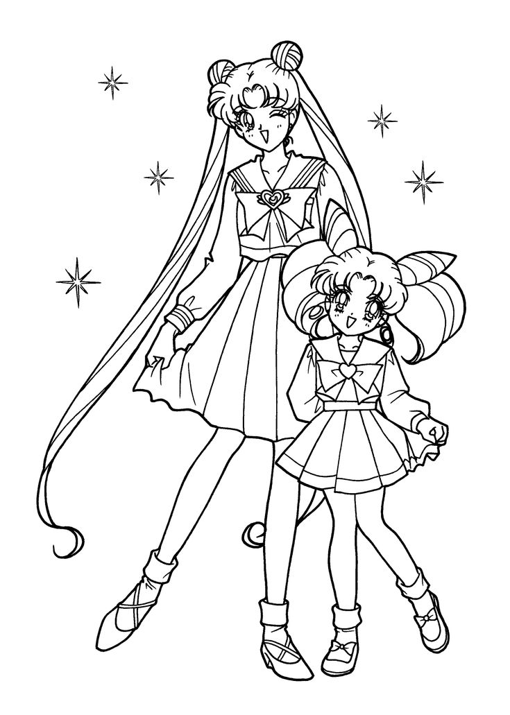 Sailor moon coloring pages for kids printable free