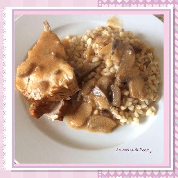 J'ai déjà une recette de filet de dinde au vinaigre balsamique version traditionnelle sur mon blog, recette ici mais je voulais essayer de le faire au Cookeo et c'est tout aussi bon et en plus rapide, alors je partage…. Pour 5 pers / 6 pp par pers pour...