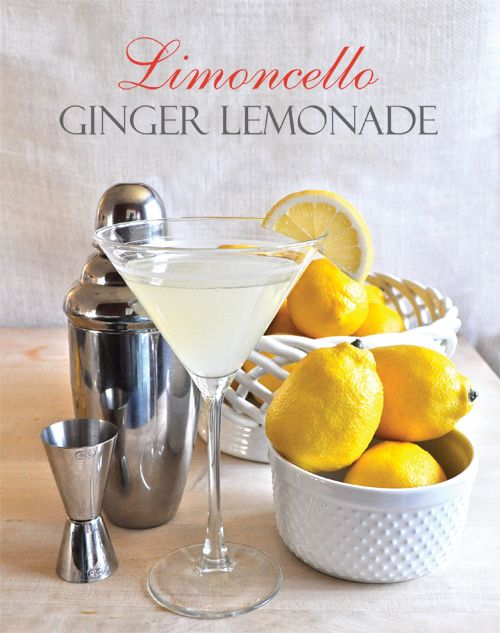 ... Delicious Foods | Pinterest | Ginger Lemonade, Limoncello and Lemonade