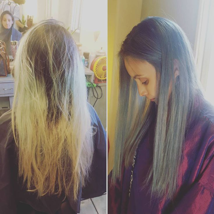 Before & after #colorcorrection #hair #haircolor #Olaplex #follow4follow #like4like #asianhair #awesome #graycolor #amazing #beforeafter #colorchange #transformation #스타일 #맞팔 #회색 #髮型 #染髮 #長髮 #칼라 #머리 #헤어칼라 #헤어 #clairechang_la