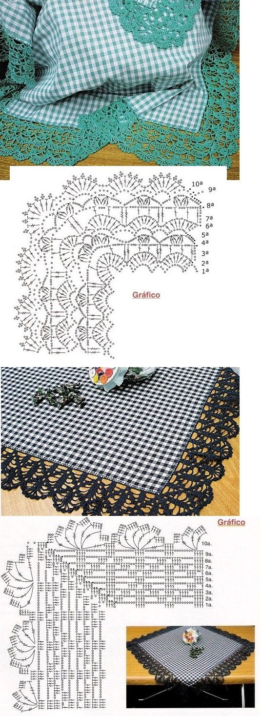 Interesting crochet borders - I think I will use them on my shawls!! #afs collection •✿• Teresa Restegui http://www.pinterest.com/teretegui/ •✿•
