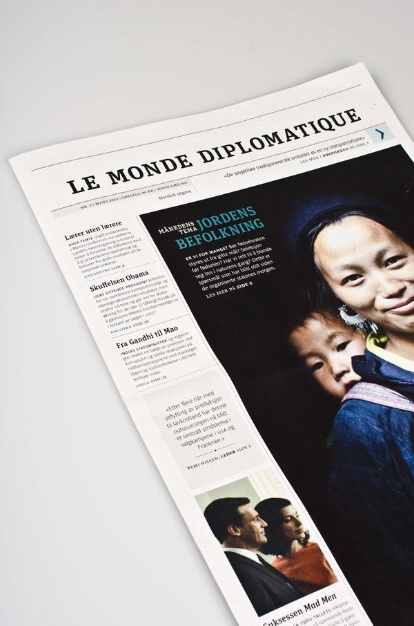 Le Monde Diplomatique by Hanna Elise Haugerød, via Behance