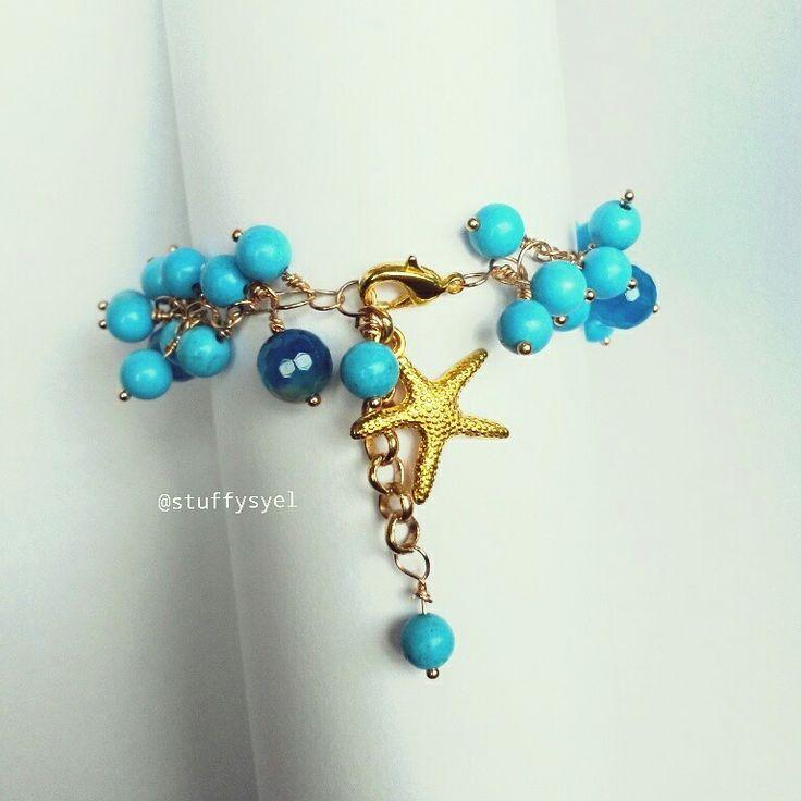 Gelang Handmade //Starfish Bracelet // Turquoise