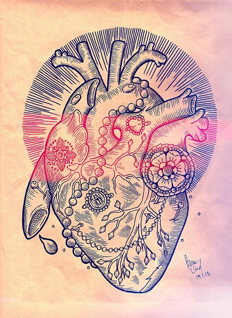 20 Heart Background Shading Tattoos Ideas And Designs