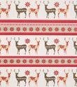 Deer & Snowflakes Glitter Gift Wrap