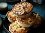 Slow Roasted Lamb, White Wine and Rosemary Aussie Pies