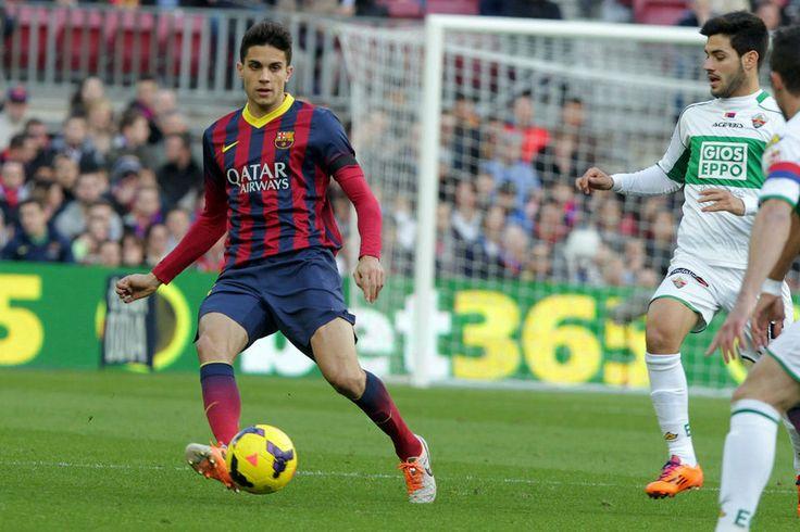 Bartra dio el susto al tener que retirarse en el Barça-Elche