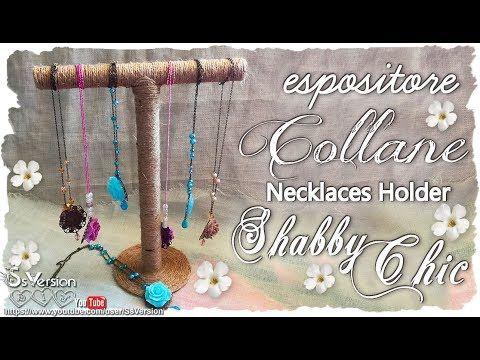 Tutorial: Porta Collane Shabby Chic | Riciclo Creativo | DIY Necklace Ho...