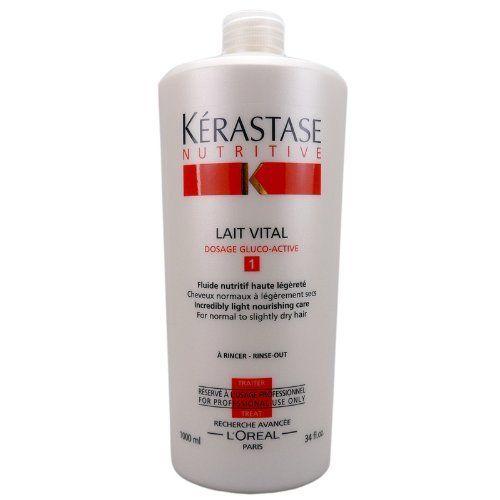 Kerastase Nutritive Lait Vital Conditioner 34 OZ by Kerastase. Save 8 Off!. $85.53. Incredibly light nourishing care for normal to slightly dry hair.