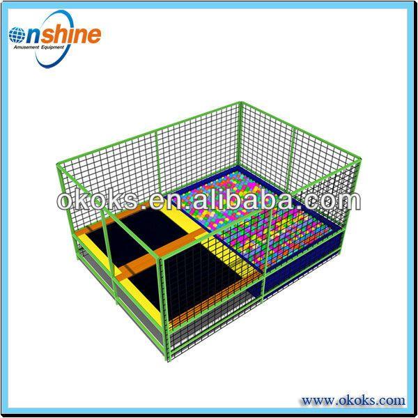 Double foam pit trampoline/cheap rectangle trampolines $3000~$25000