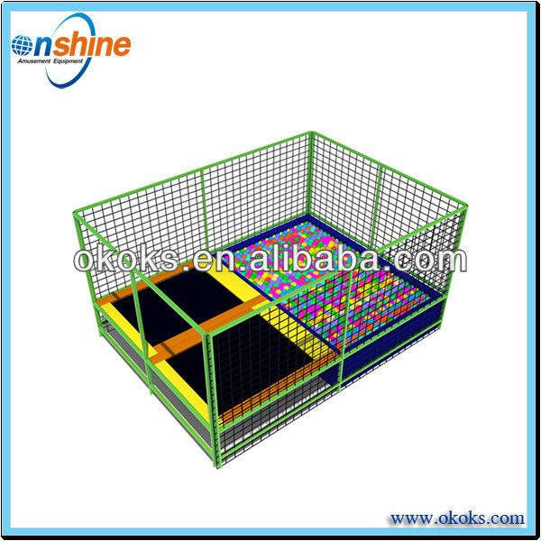 Double foam pit trampoline/cheap rectangle trampolines $3000~$25000