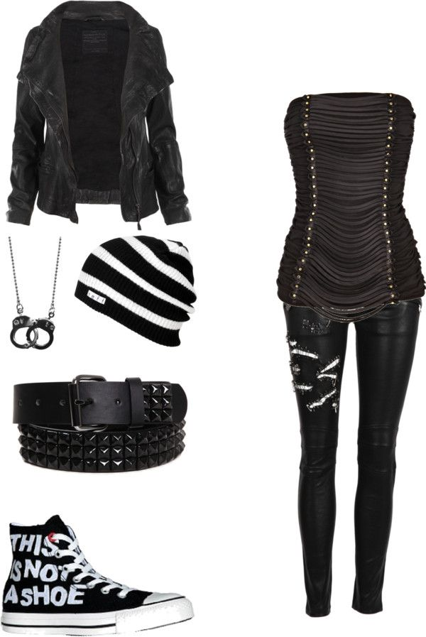"""""""untitled #36"""" by bvbsarmygal ❤ liked on Polyvore (Everything but the shirt and belt)"""