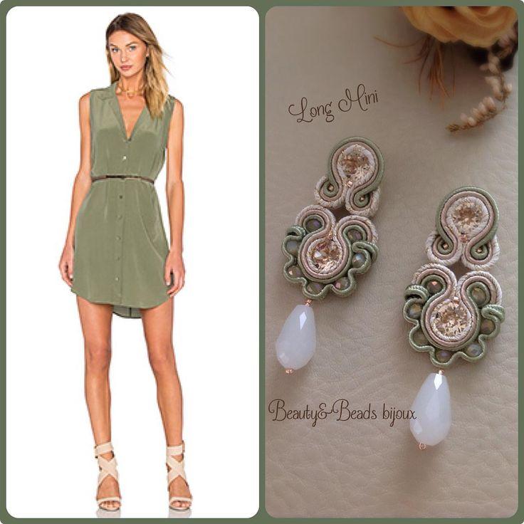 """Long Mini"" in green&cream realizzati su commissione!! verde!! #orecchini#earrings#soutache#soutacheearrings#beautyandbeadsbijoux#beautyandbeadsbijouxsoutache#beautyandbeadsbijouxsoutacheearrings#handmade#fashion#fashionblogger#fashionista#bijoux#jewelry#jewels#design#designer#shopping#shoppingonline#glam#black#swarovski#girl#igers#ootd#outfit#picoftheday#photo#ss16#longmini#soutachemania#"