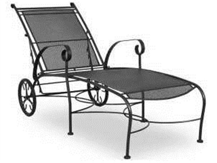 Meadowcraft Alexandria Chaise Replacement Cushions Wrought Iron