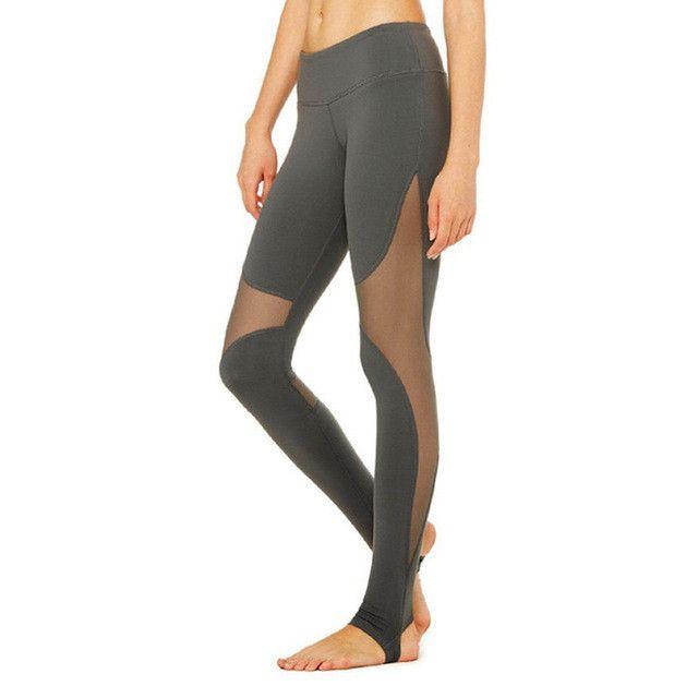 Women Mesh Patchwork Sport Leggings Fitness Yoga Pant Running Tights Sportswear Sports Trousers Professional Training Leggins