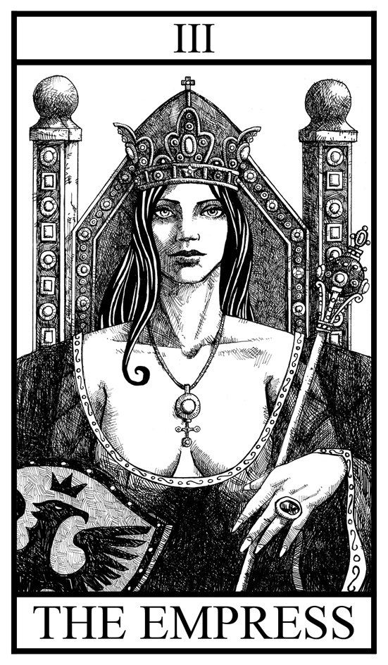 Black and White Tarot Deck Major Arcana