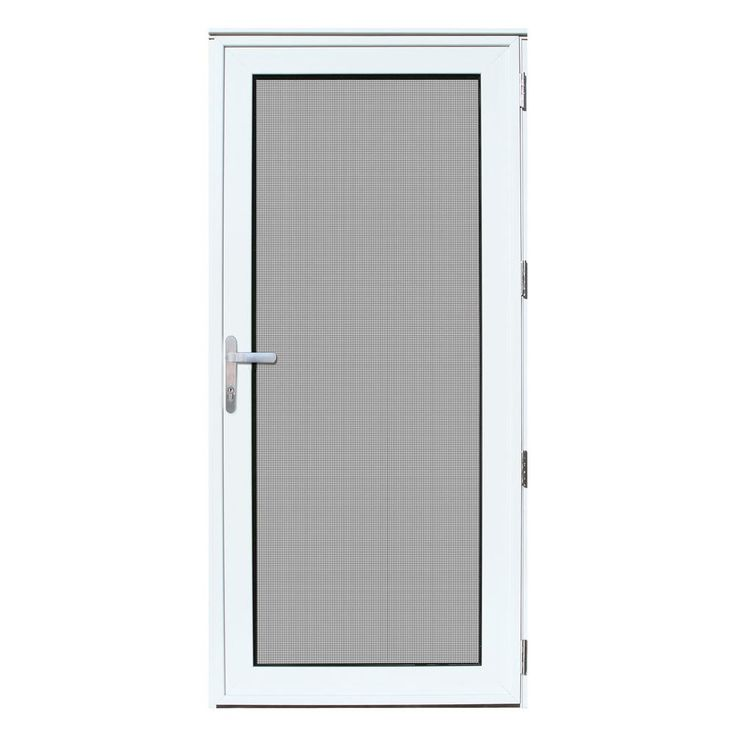 Titan Security Doors Mesthec Single Recessed Mount Ultimate Storm Door Wayfair Security Door Security Storm Doors Security Screen Door