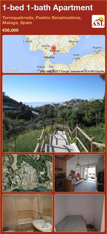 1-bed 1-bath Apartment in Torrequebrada, Pueblo Benalmadena, Malaga, Spain ►€56,000 #PropertyForSaleInSpain