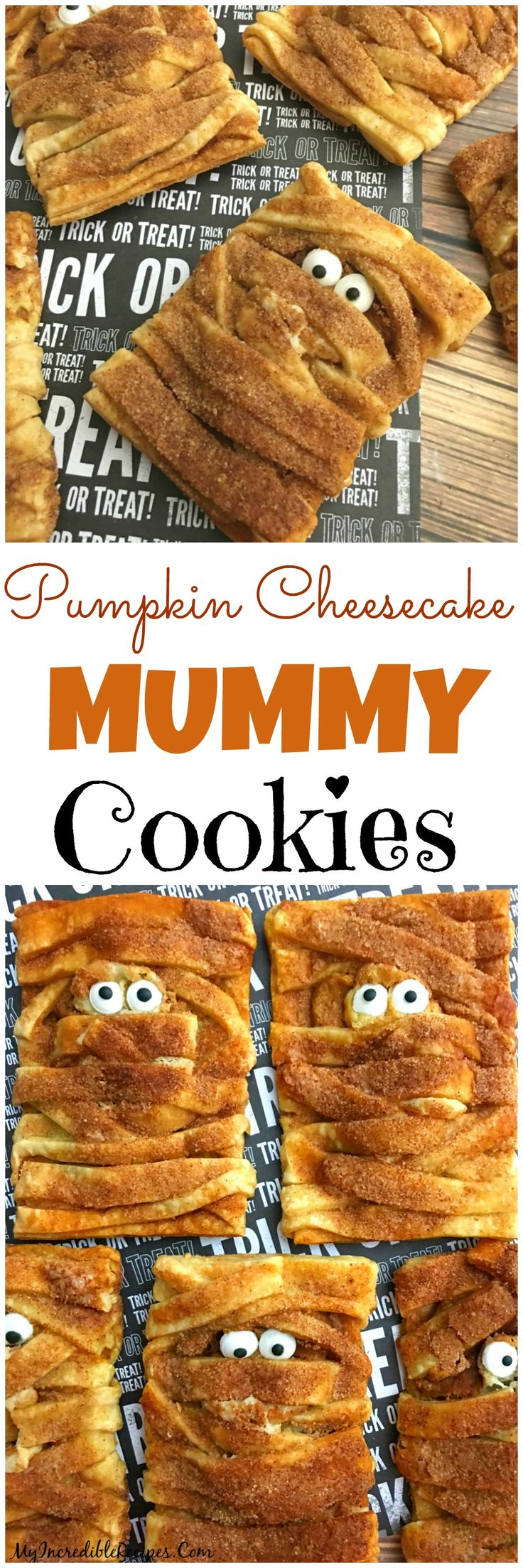 Pumpkin Cheesecake Snickerdoodle MUMMY Cookies!