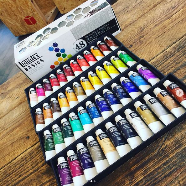[Offer by #GreatArt] Liquitex Basics Acrylic Paint Sets better than half price! 48x22ml only £29.95 and 12x22ml only £8.25! Offer only available in-store, valid until 31.05.17 while stock lasts. #mygreatart #greatartlondon #liquitex #acrylics #sets #colours #painting #artists #love