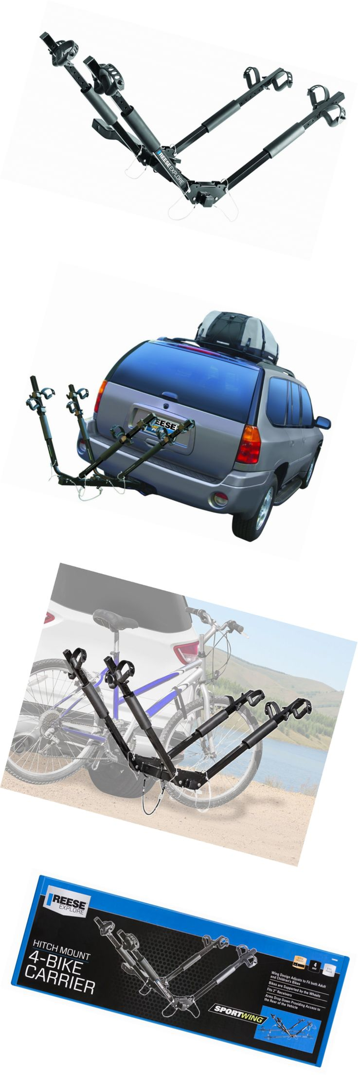 Car and Truck Racks 177849: Reese Explore 1390500 Hitch Mount Sportwing 4-Bike Carrier -> BUY IT NOW ONLY: $127.55 on eBay!