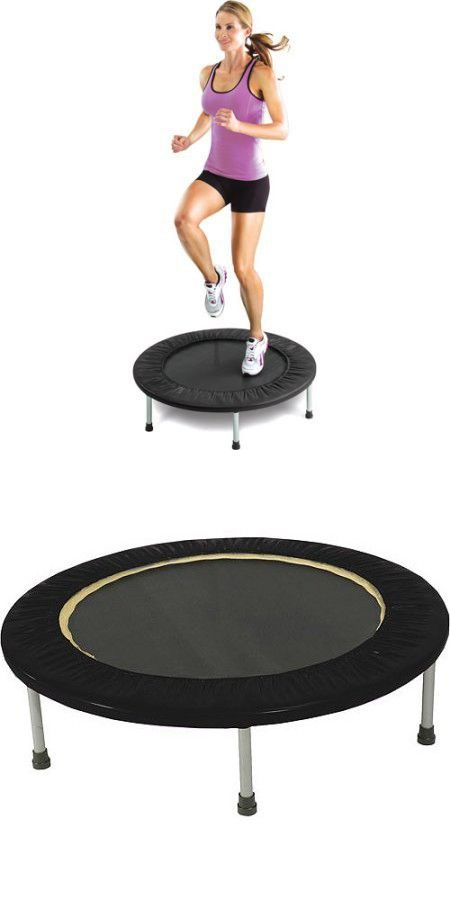 Gold's Gym Leisure Outdoors Sports & Fitness Mini Trampolines with Safety Pad -Black