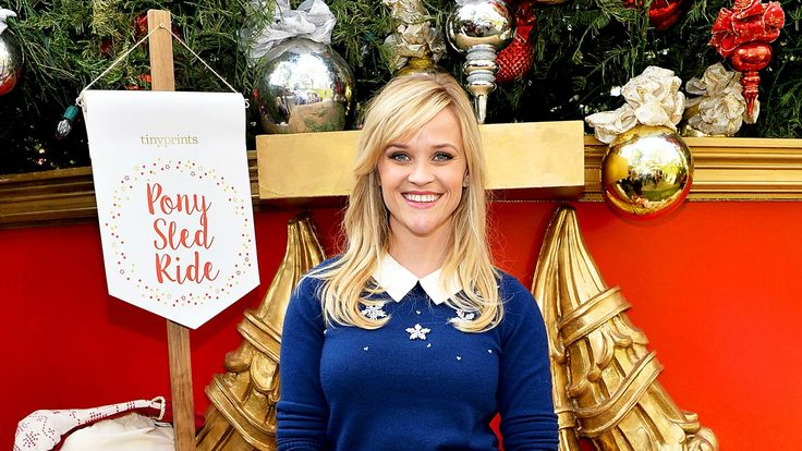 Reese Witherspoon attends Tiny Prints Presents The Baby2Baby Snow Day at The Grove in Los Angeles, California.