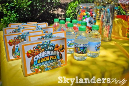 Skylander Birthday Party  This site is my favorite so far for the ideas.  ***