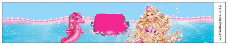 Personalized Pearl Barbie Theme Pearl Mermaid - Simple Digital Invitations