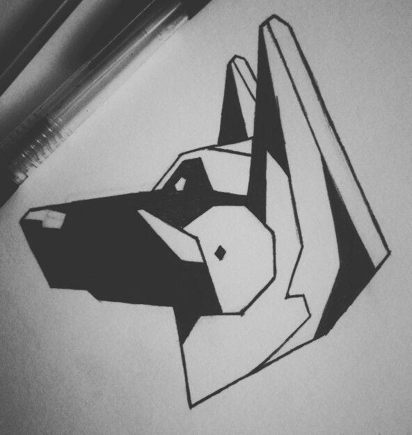 Geometric German Shepherd German Shepherd Tattoo Dog