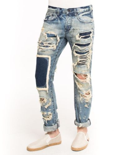 Prps-Men-Barracuda-Distressed-Ripped-Repaired-Patchwork-Indigo-Straight-Jeans-34