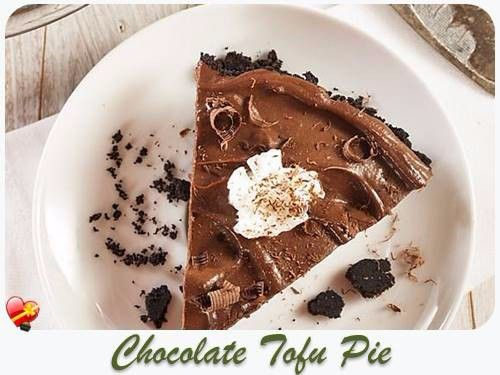 Chocolate Tofu Pie recipe with silken tofu; tasty and healthy. Get more local style tofu recipes here.