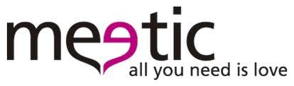 Imagen del logotipo de la página web de citas Meetic, en donde hay millones de personas inscritas esperando encontrar pareja.