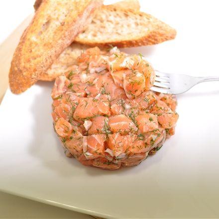 Tartare de saumon traditionnel - Nutritionnistes NutriSimple
