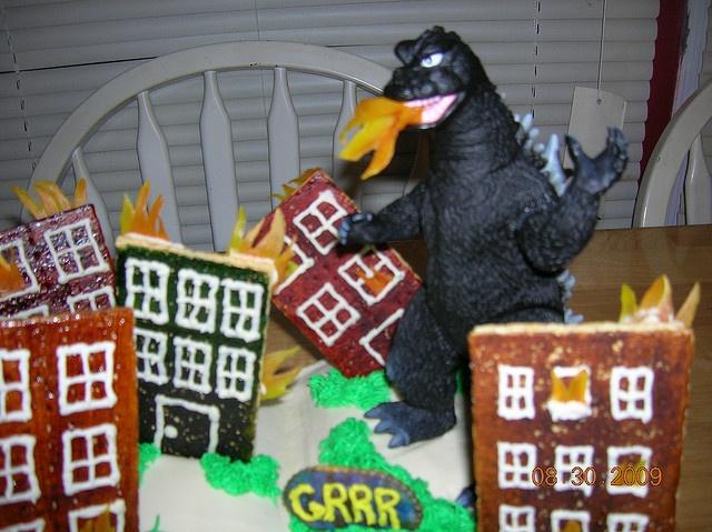 Godzilla Cake Pops